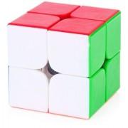 Krireen 2X2 High Speed Stickerless Speedy Rubik Magic Puzzle Cube