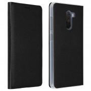 Avizar Funda Flip Book Negra para Xiaomi Pocophone F1
