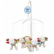 Carusel Muzical Pentru Patut Calm Baby - Friendly Mice