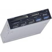 Cititor carduri de memorie încastrabil 8,9 cm, USB 3.0, Akasa AK-ICR-17