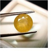 Lab Certified Top Grade 4.4ct 5.3rt Yellow Sapphire Pukhraj