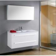 items-france MEGEVE - Grand meuble simple vasque de salle de bain contemporain
