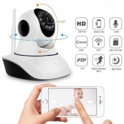 M-Trade Wireless HD IP Wifi CCTV Indoor Security Camera With Stream Live Video (Supports Upto 128 GB SD card) Dual Ante