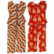 Wajbee In Vogue Girls Cotton Night Suit Set of 2