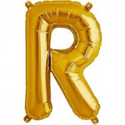 De-Ultimate 16 Inch Alphabet (R) Soild (Golden) Color 3D Foil Balloons For Birthday And Anniversary Parties Decoration
