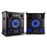 GTX-5 Sistema Altoparlanti Bluetooth USB FM AUX LED 800w nero