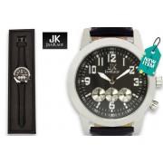 Men's Jan Kauf Luxury Black Leather JK1035 Watch