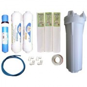 Earth RO systems service kit carbon sediment Earth Membrane 100 GPD and bowlset with kemflo PP Spun filter