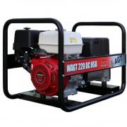 Generator de sudura AGT WAGT 220 DC HSB, 6.5 kVA, trifazat, benzina, max. 220 A