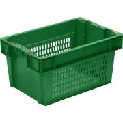 Drehstapelbehälter Inhalt 51 l, VE 5 Stk grün, Wände und Boden durchbrochen