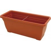 ics R60080 Vaso In Plastica Per Piante E Fiori Fioriera Rettangolare Per Giardino E Balcone Cm 80x35x33 H - Daphne - R60080