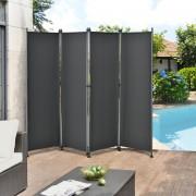 [pro.tec]® Válaszfal / Paraván - 215 x 170 cm - Szürke Kültéri válaszfal Spanyol fal Napellenző Belátásgátló
