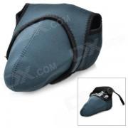 Camera Sleeve Bag for Canon / Nikon / Pentax - Black + Grey (L)