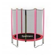 SPORTMANN Trambulina si Plasa de Siguranta 140 cm - Roz
