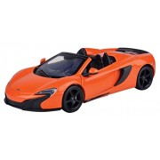 Motormax 1:24 McLaren 650S Spider Diecast Car (Tarroco Orange)