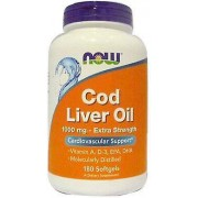 Now Foods Cod Liver Oil 1000 mg Extra Strength 180 Softgels 310 gr
