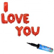 De-Ultimate Set Of Inflator Hand Balloons Air Pump And (I Love You) Alphabets For Love Themed Valentine Days Anniversary