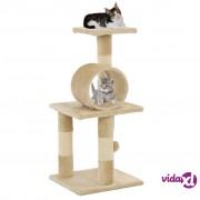 vidaXL Penjalica za mačke sa stupovima za grebanje od sisala 65 cm bež