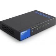 Linksys LGS108-EU Switch Gigabit a 8 Porte per Desktop RJ45, 10/100/1000 Mbps, Capacit� Plug-And-Play, QoS, Funzionalit� di Risparmio Energetico, Chassis in Metallo, Nero/Antracite