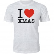 I Heart Xmas Christmas T-Shirt - Grey - M - Grey