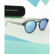 United Colors of Benetton Round Sunglasses(Blue)