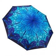 Blooming Brollies Umbrela pliabilă vitraliu Blue tematic pliant Uumbrella GMFSGB