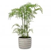 Shoppartners Groene varens kunstplanten 65 cm met grijze pot - Kunstplanten