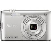 Nikon Coolpix A-300 Digitale camera 20.1 Mpix Zoom optisch: 8 x Zilver Bluetooth, WiFi