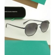 United Colors of Benetton Oval Sunglasses(Grey)