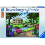 Puzzle in vizita la conac, 500 piese Ravensburger