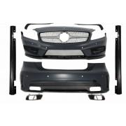 Classe Kit estetico TUNING sportivo MERCEDES ClasseA W176 5 porte 2012- look A45 AMG completo paraurti anteriore posteriore minigonne scarichi