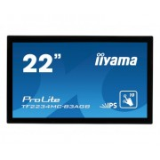 iiyama 21,5' PCAP Anti-Glare Bezel Free 10P Touch Screen, 1920x1080, IPS panel, VGA, DVI, 290cd/m², 1000:1, 8ms, USB Touch Interface, External Power Adapter, VESA 100, 10P touch only with supported O