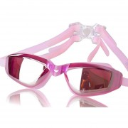 Hombres Mujeres chapado electrónica HD impermeable Anti-Fog Adult Swim Goggle