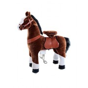 SMART GEAR Kids Plastic Pony Cycle Horse Riding Toy, 3-5 Years (Brown, SG872S41)