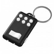 Breloc antistres cu butoane si lanterna LED, negru