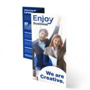 .flyer.be 100 Folders drukken 4-luik rol