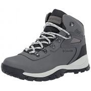 Columbia Women's Newton Ridge Plus Hiking Boot, Quarry/Cool Wave, 7.5 Wide US