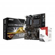 Micro Procesador Amd 3.8 Ghz + Tarjeta Madre Asrock A320M-HDV