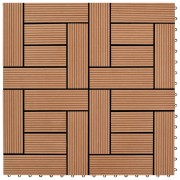 vidaXL WPC декинг плочки за 1 кв. м, 11 бр, 30 x 30 см, кафяви