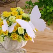 EY 12pcs De La Mariposa 3D Arte Decal Decoración PVC Mariposas Pegatinas De Pared Color Blanco