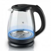Електрическа кана SAPIR SP 1230 J, 2200 W, 1.7 литра, Стъклена, LED светлини, Черна