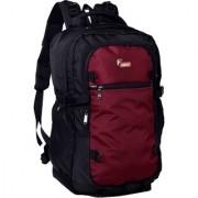 F Gear Olympus 46 Liters Laptop Trekking Sch Bag(Black Wine)