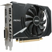MSI Video Card GeForce GTX 1050 Ti OC GDDR5 4GB/128bit, 1341MHz/7008MHz, PCI-E 3.0 x16, DP, HDMI, DVI-D, Sleeve Fan Cooler Double Slot, Retail GTX_1050_TI_AERO_ITX_4G_OCV1