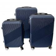 Set de 3 Maletas Rígidas ABS Para Viajes - Azul