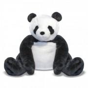 Urs Panda din plus, 71 cm, Negru/Alb