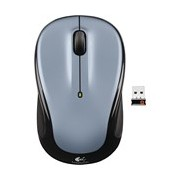 Logitech M325 Mouse - Radio Frequency - USB - Optical - Light Silver