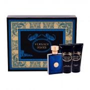 Versace Pour Homme Dylan Blue confezione regalo Eau de Toilette 50 ml + doccia gel 50 ml + balsamo dopobarba 50 ml uomo