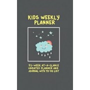 Kids Weekly Planner: 52 Week at a Glance Undated Planner and Journal with to Do List (5 X 8 Inches / Black), Paperback/Journal Jungle Publishing