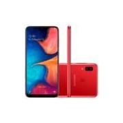Smartphone Samsung Galaxy A20 32GB Dual Chip 4G Tela 6,4 Câmera 13MP e 5MP Frontal 8MP Android 9.0 Vermelho -