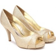Madden Girl Women GOLD GLITTER Heels